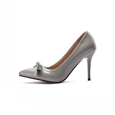 Le donne eleganti sandali SEXY DONNA PRIMAVERA tacchi cadono Comfort similpelle Office & Carriera Party & abito da sera Stiletto Heel Bowknot nero Rosa Bianco grigio , bianco , noi9.5-10 / EU41 / uk7.