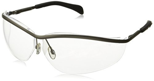 MCR Crews KD210 Klondike Safety Glasses, Silver Metal Frame, Clear Lens by MCR Safety