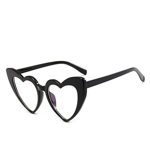 CFBD Sunglasses Heart-Shaped Sunglasses Women's Plastic Reflective Sunglasses Uv400 Fashion Girls Sunglasses ()