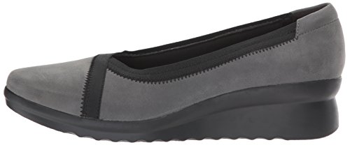 Dash Synthetic Grey Chaussures Clarks À Caddell Nubuck Talons Femmes 0qSwESg