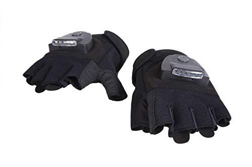 Black Led Light Up Fingerless Gloves in US - 6