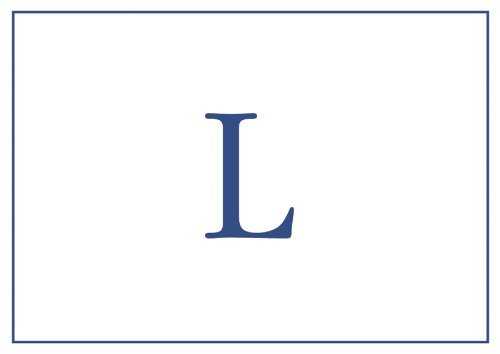 - Thank You Notes Personalized Stationery Note Cards Monogrammed Your Initial Pack of 32 Blue Letter L