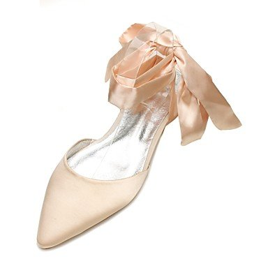 Flat CN41 Wedding Comfort UK7 Heelivory Summer Champagne Blue Satin Spring Rhinestone US9 Dress amp;Amp; Party Evening Shoes Bowknot Wedding Ruby Women'S EU40 q1nAOdE4w4
