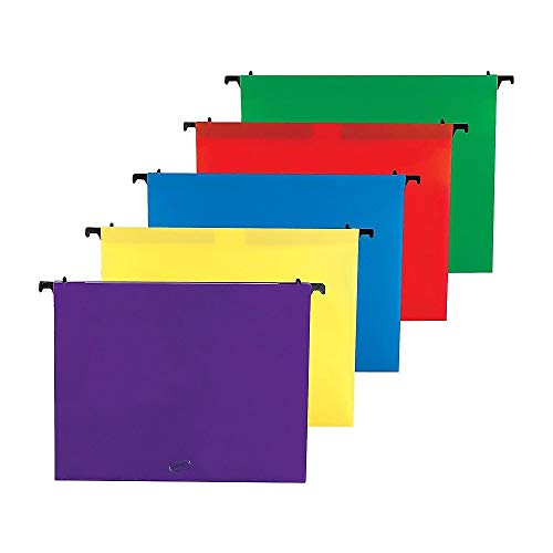 - Staples Poly Expanding Hanging File Pockets, Letter, Assorted, 5/Pack