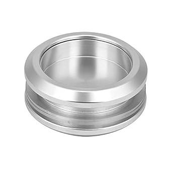 Tirador de puerta de cristal de aleación de aluminio con mango redondo duradero para puerta corredera de baño o cocina: Amazon.es: Amazon.es