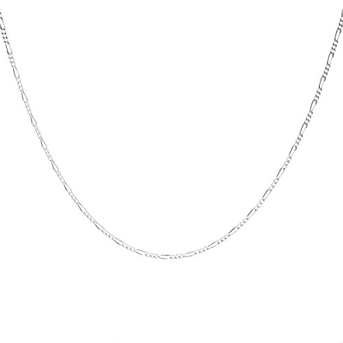 925 Sterling Silver 1.8MM Figaro Chain - Italian Crafted Necklace For Women - Spring Ring Clasp 18 Inch