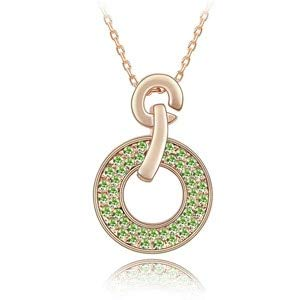 Crystal Circle Pendants Necklaces | Gold Color Chain | Girl Gifts Jewelry | Hot Trendy