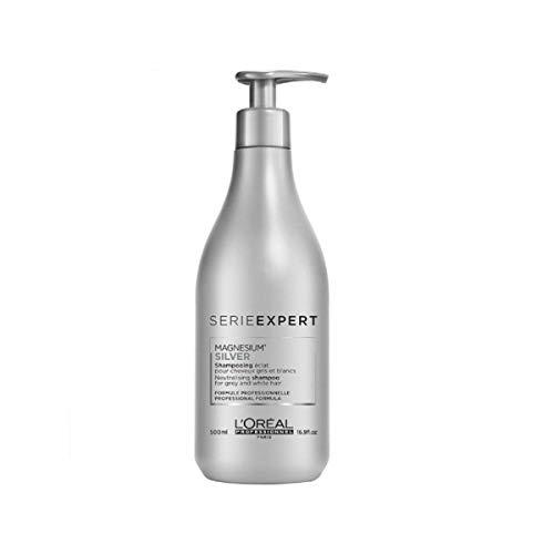 Gray Hair Shampoo - L'Oreal Serie Expert Silver Shampoo Unisex Shampoo, 16.9 Ounce