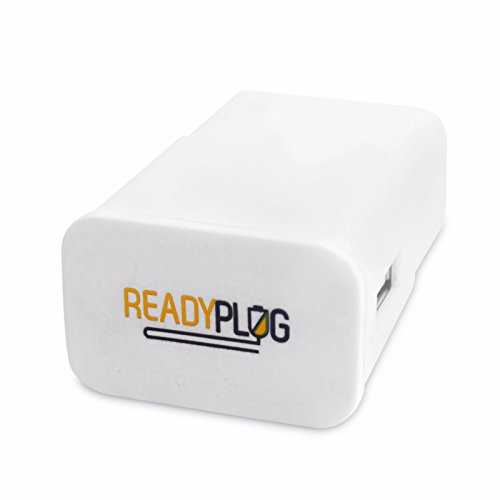 ReadyPlug USB Wall Charger for Alpatronix HX250 Waterproof Bluetooth Earbuds (White)