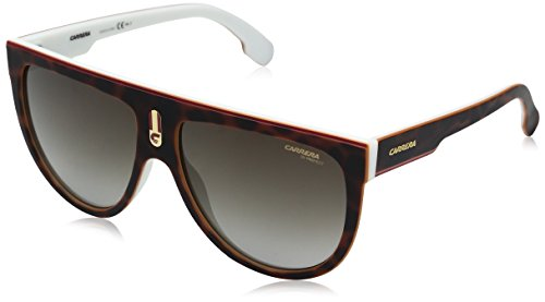 Carrera Men's Flagtops Round Sunglasses, Havana White/Brown Gradient, 60 - Mens Carrera Brown Sunglasses Havana