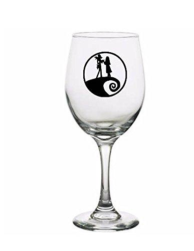 jack sally nightmare before christmas glass cup wine glass