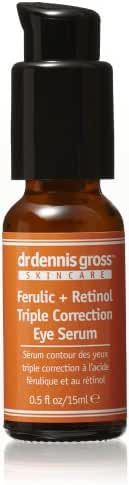 Dr. Dennis Gross Skincare Ferulic + Retinol Triple Correction Eye Serum, 0.5 fl. oz.