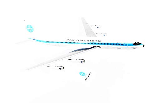 Daron Skymarks SKR877 Pan American World Airways 707 1/150 Scale Airplane Model Jet Clipper Monsoon Livery REG#N415PA ()