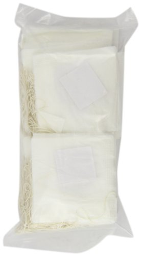 Special Tea Company Empty Tea Bags with Strings, 2.5 Inch x 2.25 Inch, 200 Count
