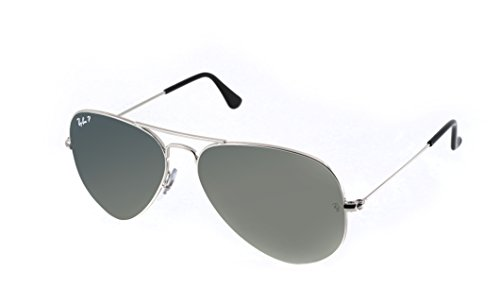 Ray Ban RB3025 003/59 58M Silver/ Polarized Green Silver Mirror - Ray Silver Ban Mirror