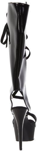 Pleaser - Sandalias mujer, color negro, talla 38.5