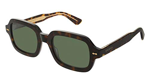 Gucci GG0072S Sunglasses 003 Havana / Green Lens 52 mm ()