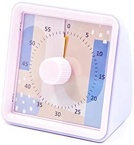 New Silent Timer Time Student Alarm Clock, Pink purple