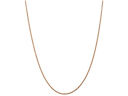 10 Inch 14k Rose Gold 1.5mm bright-cut Rope Chain Ankle Bracelet by Finejewelers