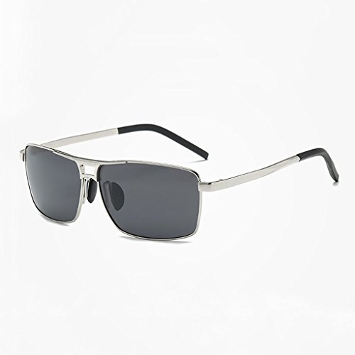 Color Photography frame Lens Gray de Metal lens Shopping polarizadas Classic New LSX Travel Glasses Black Silver Riding Tea LX sol tea Frame Gafas g4Onwv