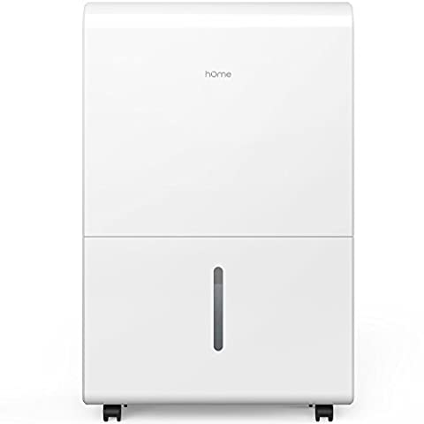 hOme 30 Pint Dehumidifier - Energy Star Electric Dehumidifier Machine for Basement or Large Room with Hose Drain to Remove Mildew Mold or Odor - Safe Mid Size Portable Wheels - Auto Humidity (Dehumidifiers)