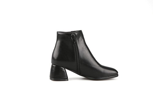 AdeeSu Ladies European Style Square Heels Zipper Imitated Leather Boots Black azG3uN