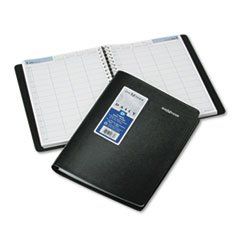 * Recycled Four-Person Group Daily Appointment Book, Black, 7 7/8