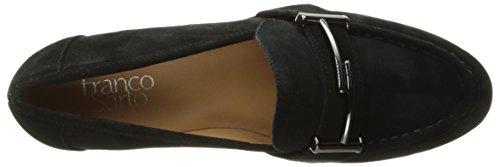 Franco Sarto Women's L-Baylor Loafer, Black, US US Black Suede