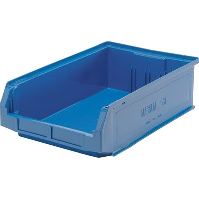 Quantum Storage Magnum Bin - 6-Pack, 19 3/4in.L x 12 3/8in.W x 5 7/8in.H, Blue, Model# QMS531BL-Z