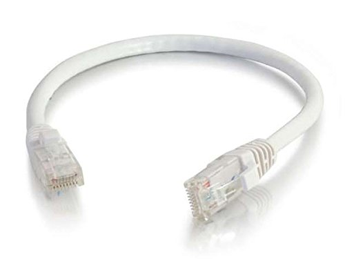 C2G 00959 Cat6 Cable - Snagless Unshielded Ethernet Network Patch Cable, White (6 Inches)