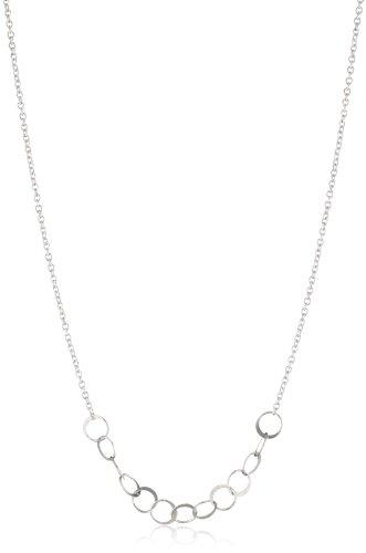 Melissa Joy Manning Sterling Silver Asymmetrical Circle Link Necklace