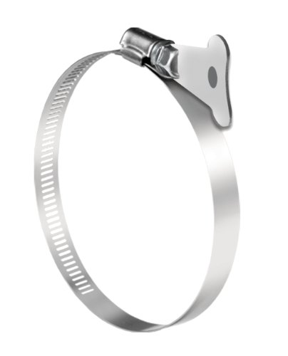 Pro Tie 33718 SAE Size 80 Range 4-1/16-Inch-5-1/2-Inch Turn Key Dryer All Stainless Hose Clamp, 2-Pack by Pro Tie