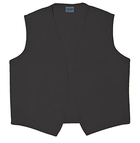 Style A740NP No Pocket Unisex Uniform Vest - Charcoal Gray, Large (Good Bartender Halloween Costume)
