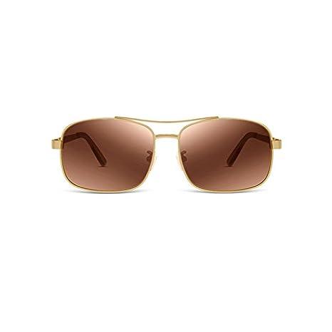 Sonnenbrille Edelstahl-Rahmen Polarisierte Sonnenbrille TAC Anti-UV Männlich braun mZLFgEG