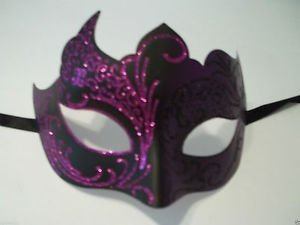 Purple Black Venetian Mask Masquerade Mardi Gras by Party Supplies ()