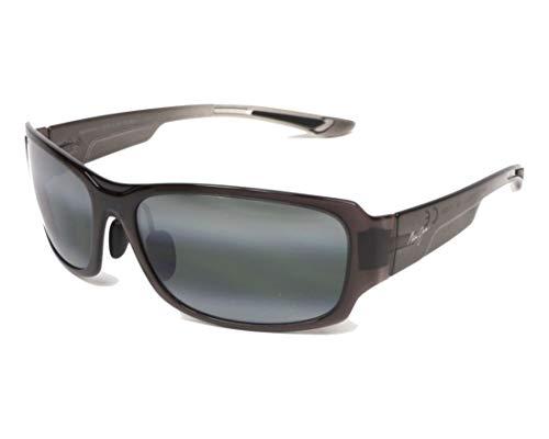 (Maui Jim Monkeypod 441-11A | Polarized Grey Fade Wrap Frame Sunglasses, Neutral Lenses, with with Patented PolarizedPlus2 Lens)