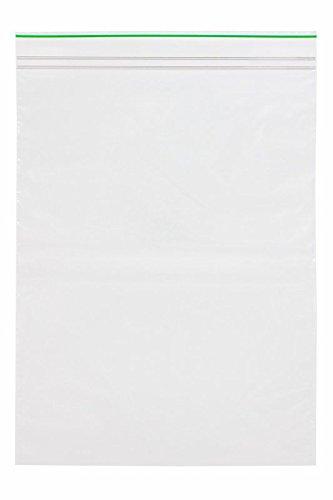 (Minigrip GreenLine MGBD2P0912 Polyethylene (LDPE Blend) Clear Reclosable Bag, 9