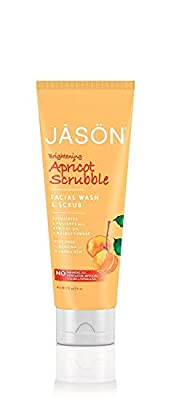 JASON Apricot Scrubble Facial Wash and Scrub, 4-Ounce Tubes (Pack of 4) by Jason Natural Cosmetics