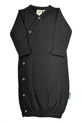 Newborn Sleeper Black - Parade Organics Kimono Gowns - Essentials Black 0-3 Months