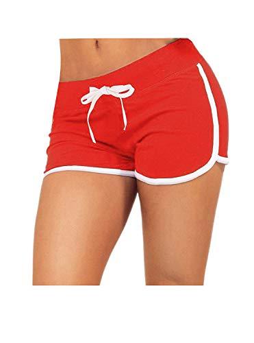 Little Beauty Women Running Yoga Athletic Booty Sport Shorts Red XL (Lifeguard Shorts Women)