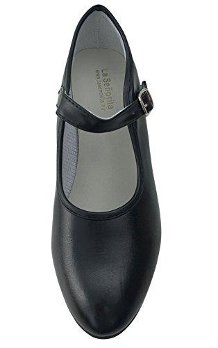 Enfants Chaussures Señorita de Princesse Noir Femmes Flamenco black Sevillane La Ou apaHw0