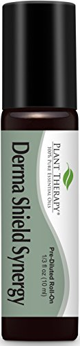 Plant Therapy Derma Shield Synergy Essential Oil Pre-Diluted Roll-On 10 mL (1/3 oz) 100% Pure, Undiluted, Therapeutic Grade