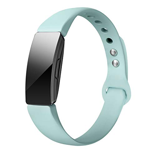 SWEES Silicone Bands Compatible with Fitbit Inspire & Inspire HR & Ace 2, Replacement Soft Thin Band Accessories Small Large for Women Men, Black, White, Blue, Pink, Gray, Wine