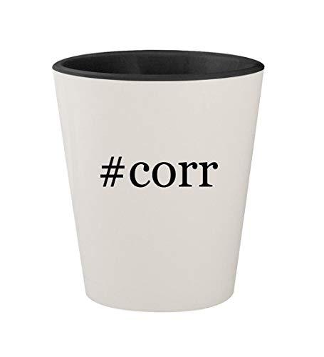 #corr - Ceramic Hashtag White Outer & Black Inner 1.5oz Shot -