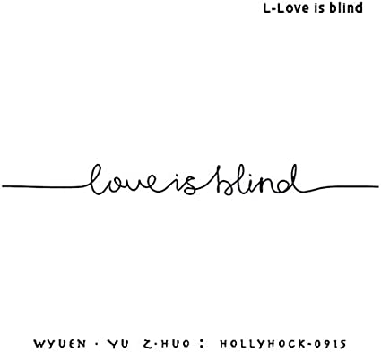 Yangll New Love Is Blind Tattoo Tattoo Pegatinas A Prueba De Agua ...