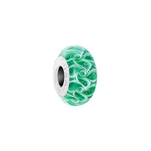 Chamilia Jack Frost - Emerald Color with Murano Glass Charm, Multi, One Size (Beads Murano Pugster Green)