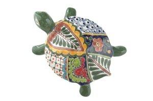 Talaver aLarge Wall Turtle - 7''W x 10''L (Green Body) by Tierra Fina