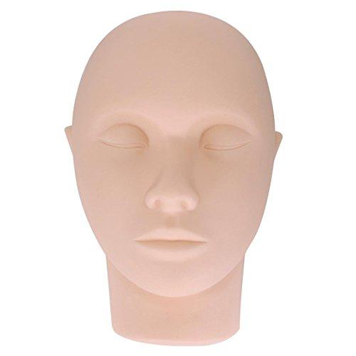 Yimart 1pcsd Professional 23cm Mannequin Training Head Cosmetology Eyelash Eye Extension Practice