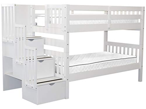 home, kitchen, furniture, bedroom furniture, beds, frames, bases,  beds 3 on sale Bedz King Stairway Bunk Beds Twin over Twin in USA
