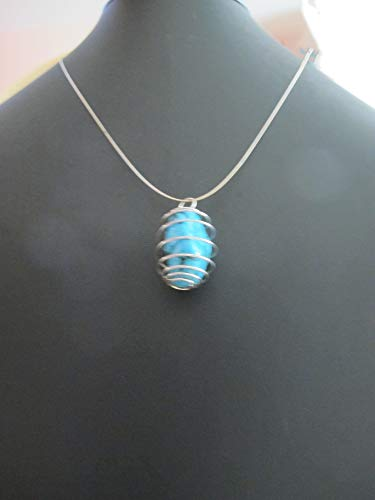 Turquoise Nugget Pendant on a Steel Choker